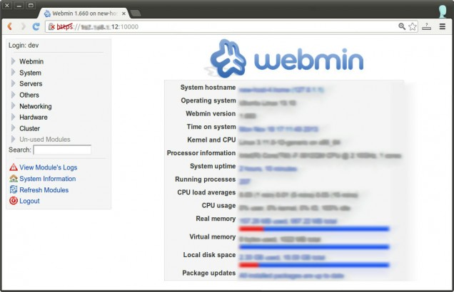 Webmin - Cloud Server - Dewaweb - VPS Murah
