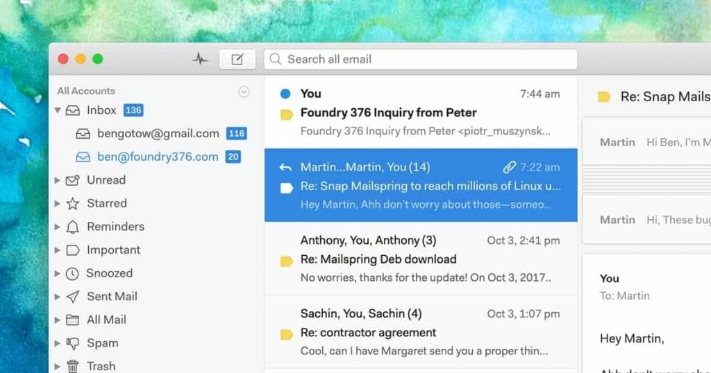 mailspring email client