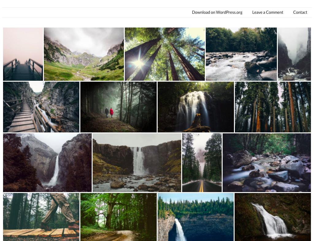 contoh penggunaan plugin gallery justified demo site