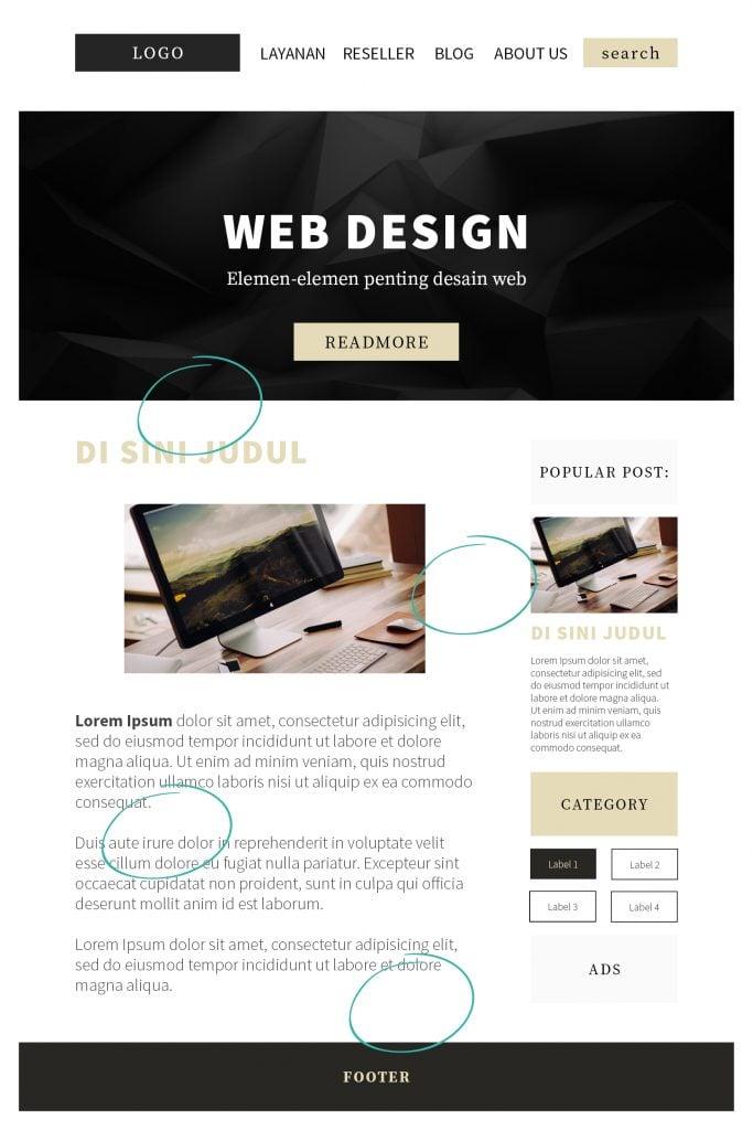 cara design website