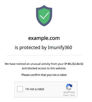 Captcha-Imunify360
