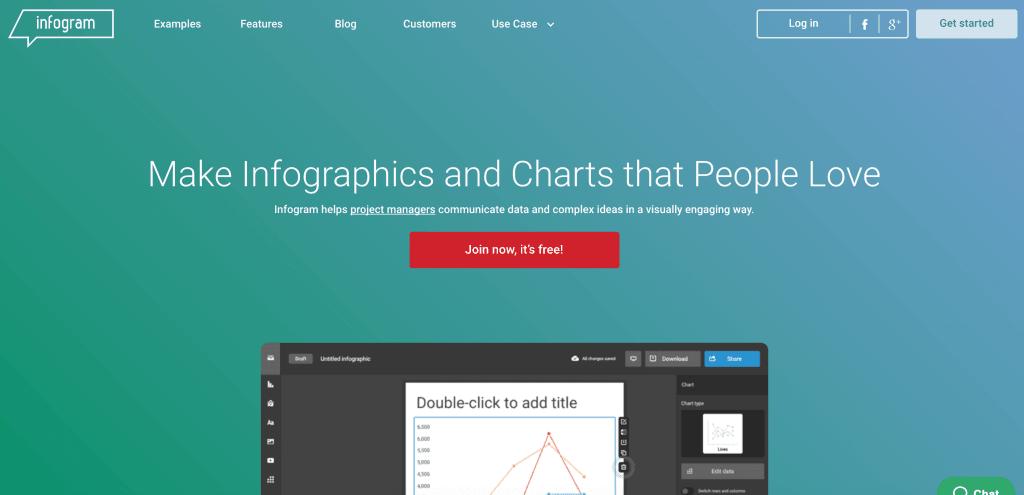 aplikasi membuat infografis infogram