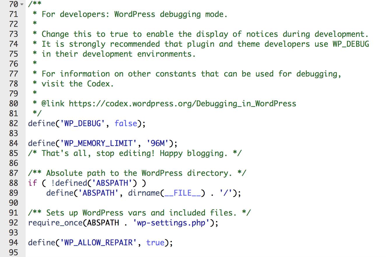 define_wp_allow_repair