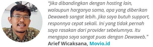 Dewaweb-Testimonial-Arief-Wicaksana-Movio