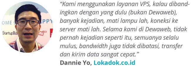 Dewaweb-Testimonial-Dannie-Yo-Lokadok