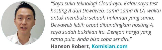 Dewaweb-Testimonial-Hanson-Robert-Komisian