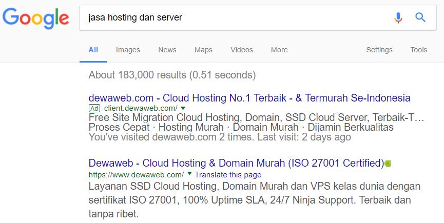 Result-Page-Dewaweb