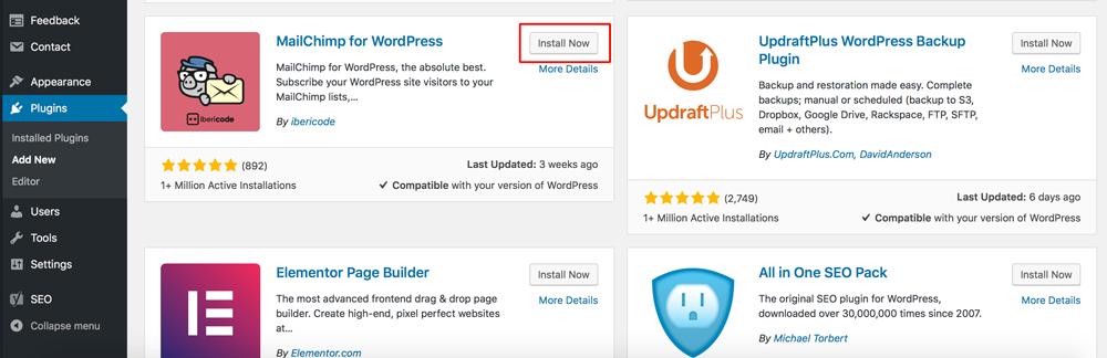 Install Plugin WordPress Dewaweb