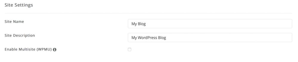 Site Settings Install WordPress dari Softaculous Dewaweb