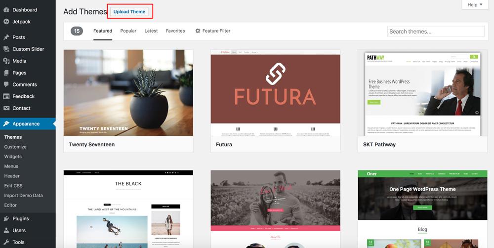 Upload-Theme-WordPress-Dewaweb