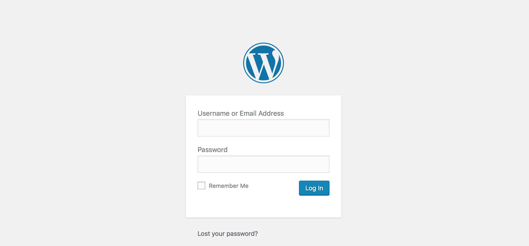 WordPress login Dewaweb