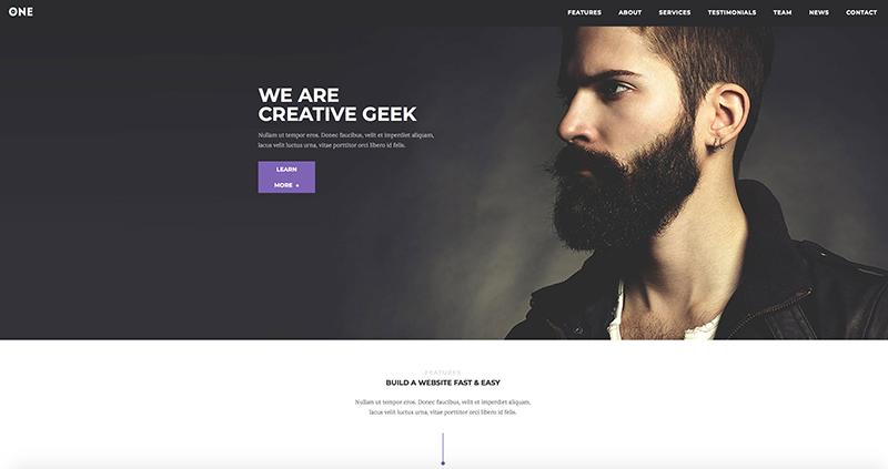 Template WordPress Meridian One