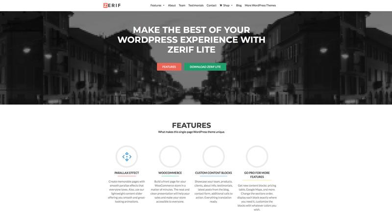 Template-WordPress-ZerifLite
