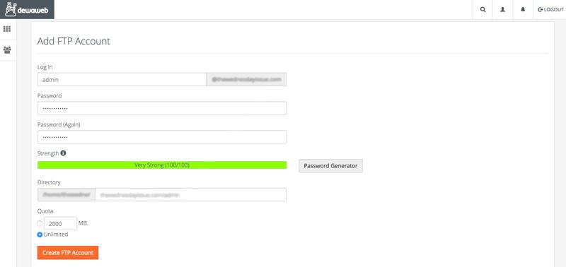 cPanel-FTP-Account-Create-Dewaweb