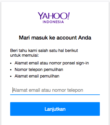 In sign indonesia mail yahoo Yahoo is