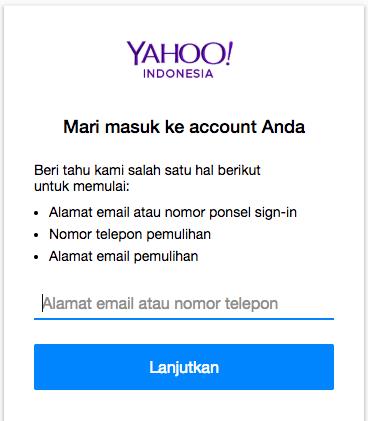 Langkah 1 Lupa Password Yahoo dari Dewaweb