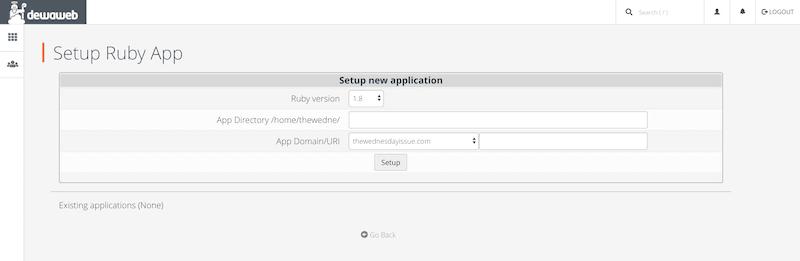 Dewaweb Ruby Setup Node