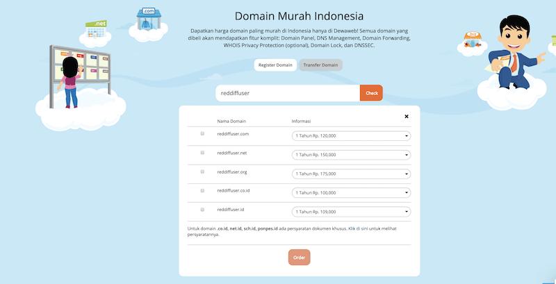 cek domain dewaweb