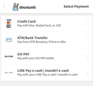 payment options cara membeli hosting dewaweb