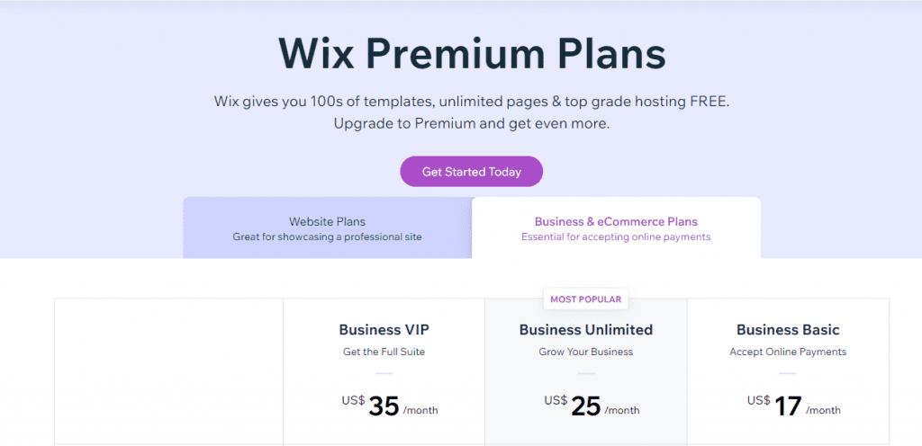 biaya wix