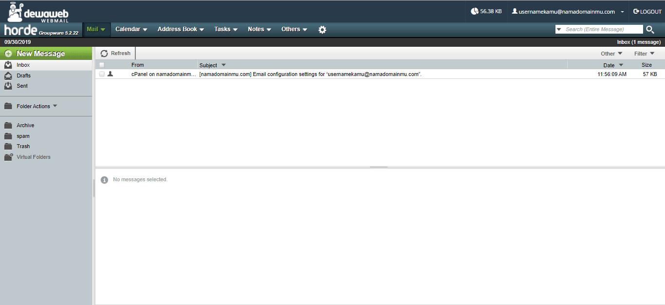 buat email domain sendiri - horde