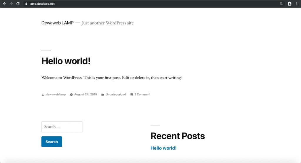 install wordpress lamp 3