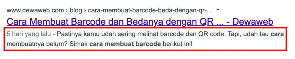 contoh meta description