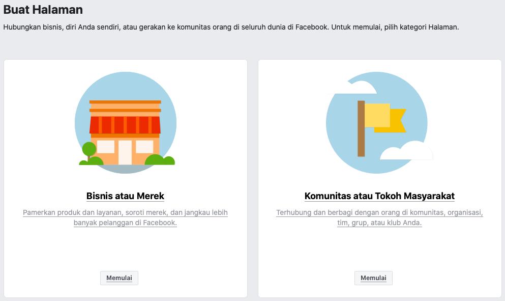 cara membuat iklan di facebook buat halaman