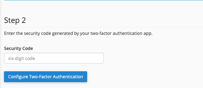 cara mengaktifkan two-factor authentication cpanel konfigurasi kode