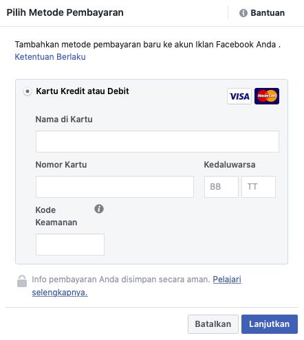 cara membuat iklan di facebook bayar