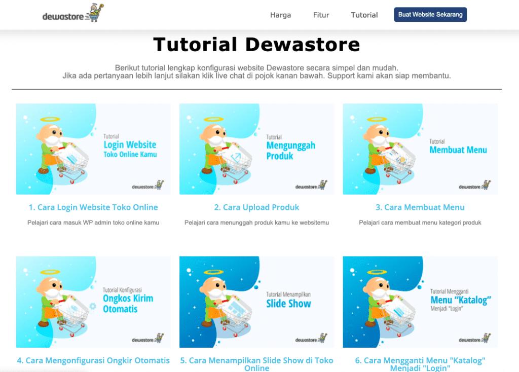 cara membuat website toko online tutorial dewastore