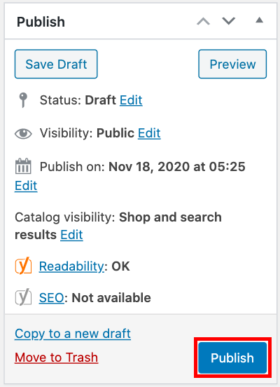 publish produk