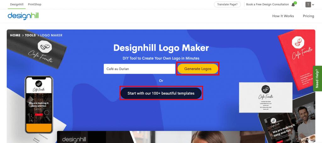 designhill logo maker