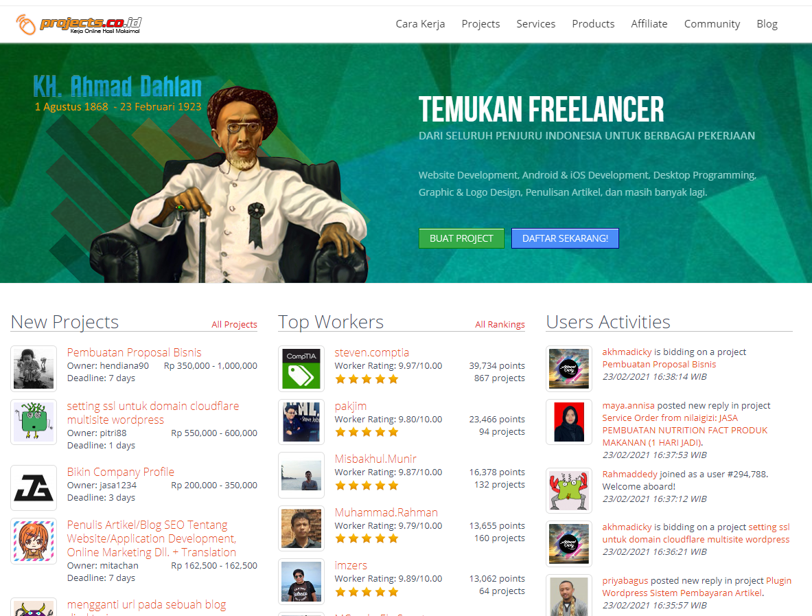 situs freelance projects.co.id