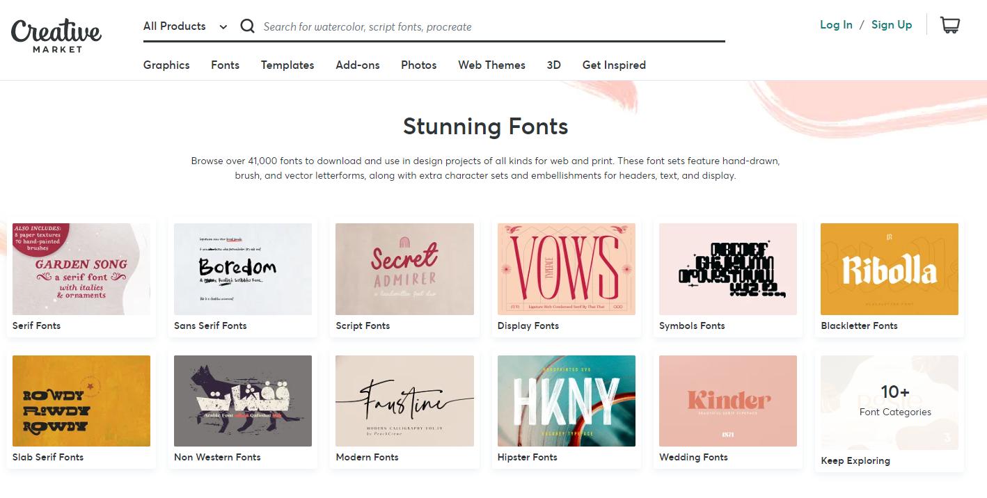Download Font keren di creative market