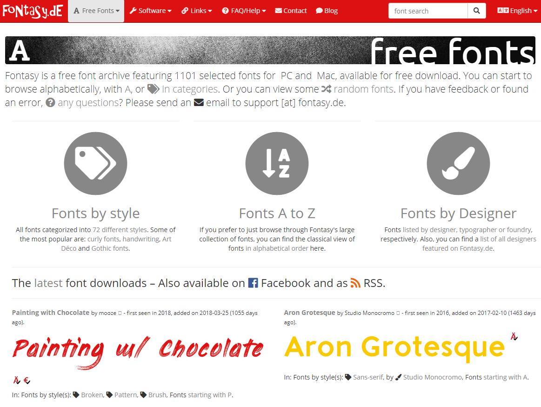 Download font keren di Fontasy