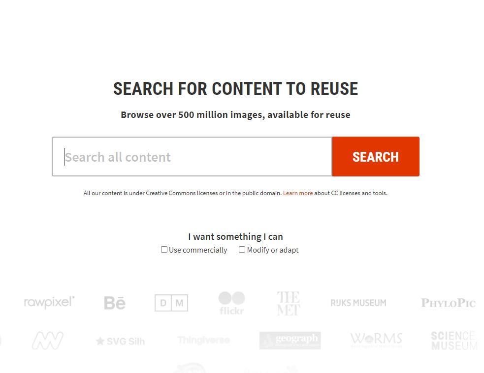mesin pencari creative common search
