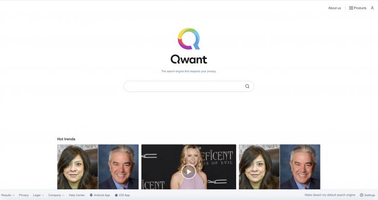 mesin pencari selain google - Qwant