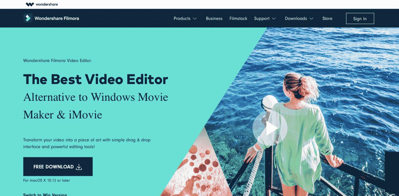 Aplikasi Edit video Filmora