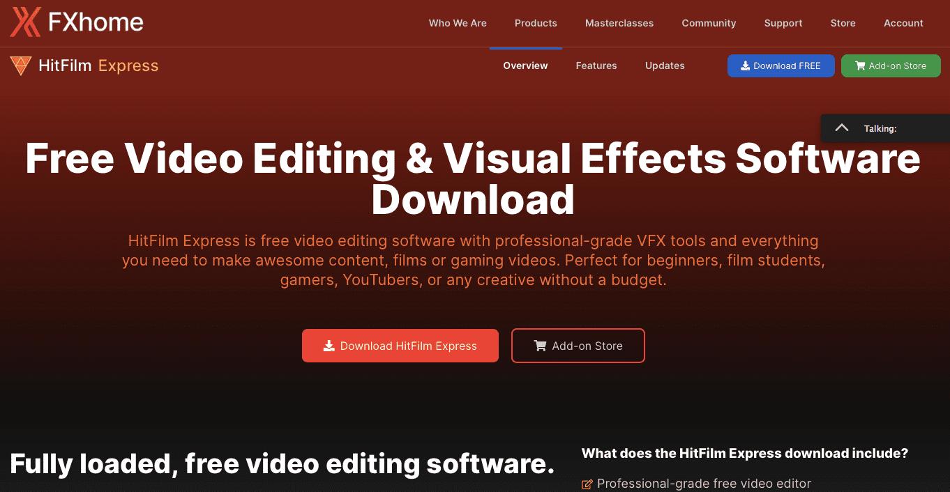 Aplikasi Edit Video Hitfilm Express