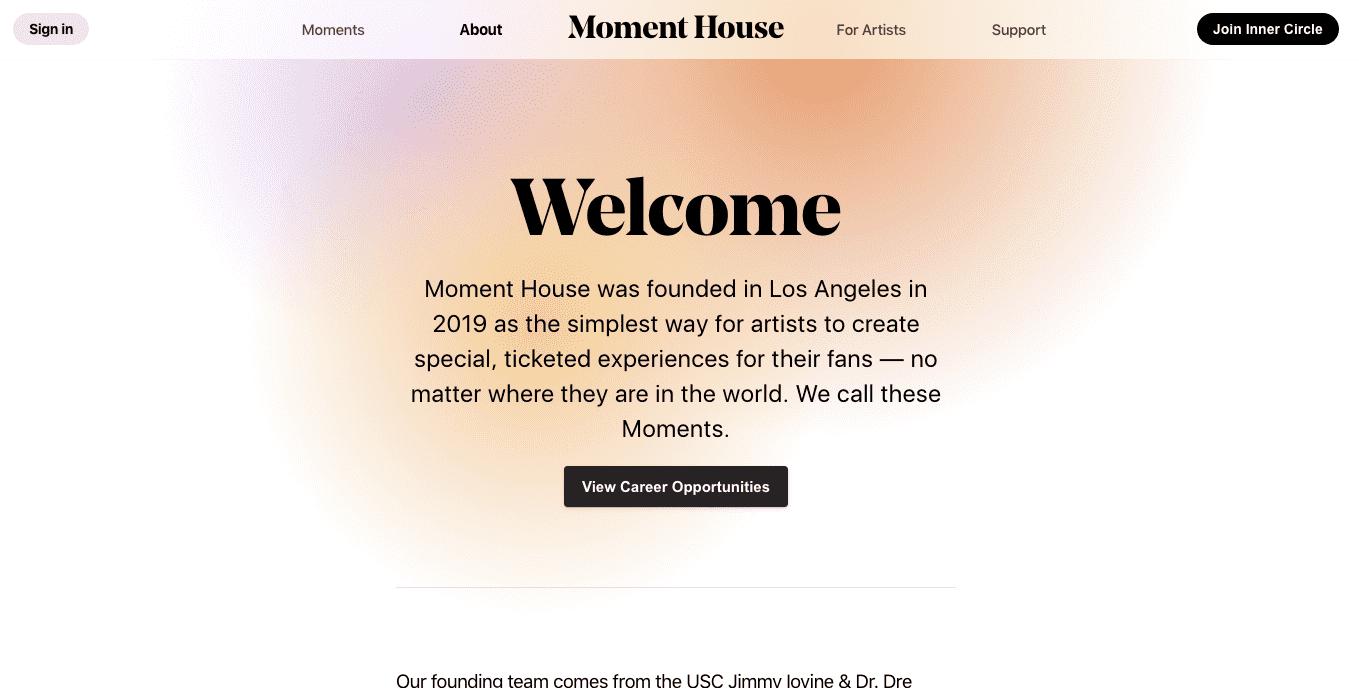 Web design gradient color