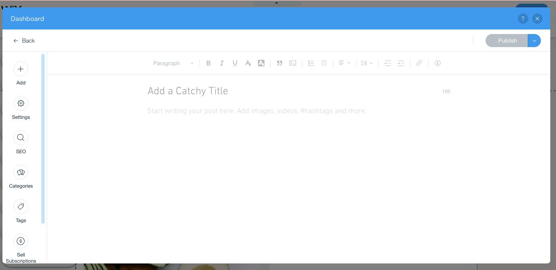 Membuat postingan di Wix