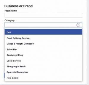 Cara jualan di Facebook-Isi page name