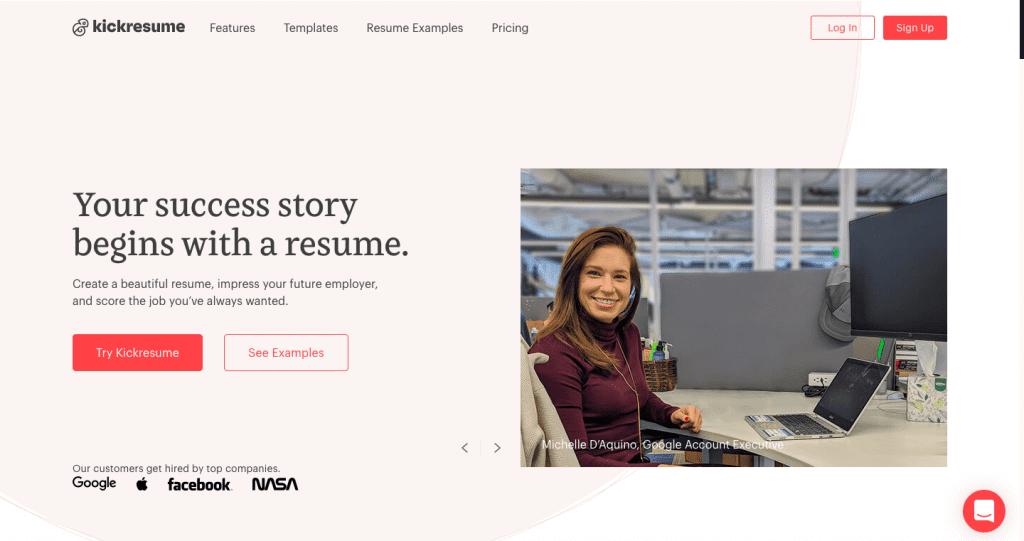 website kickresume