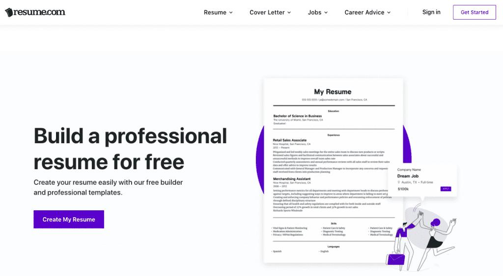 website resume.com