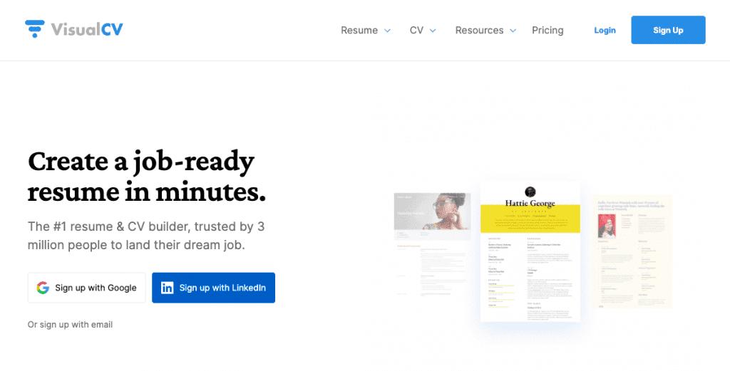 website visual cv