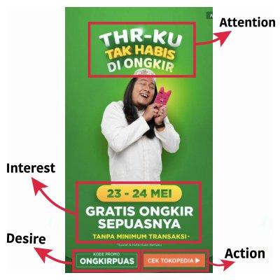 contoh aida pada iklan