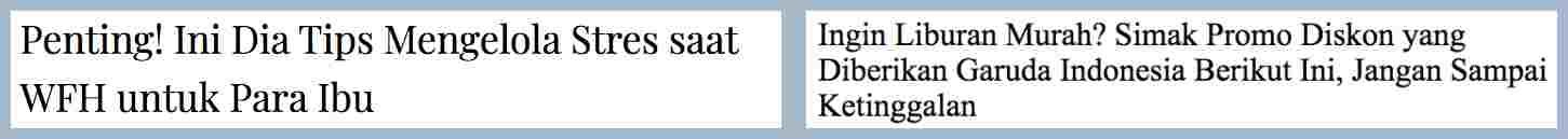 contoh copywriting urgent headline