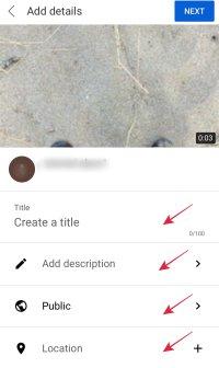 tambahkan detail video