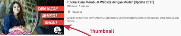 Thumbnail video